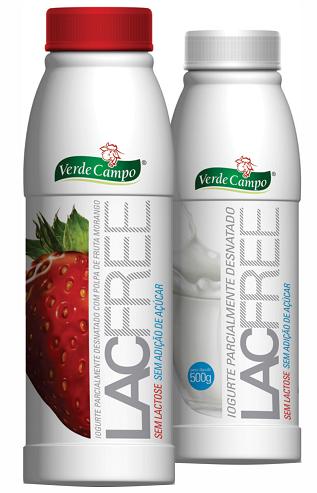 Iogurte Lac free da marca Verde Campo